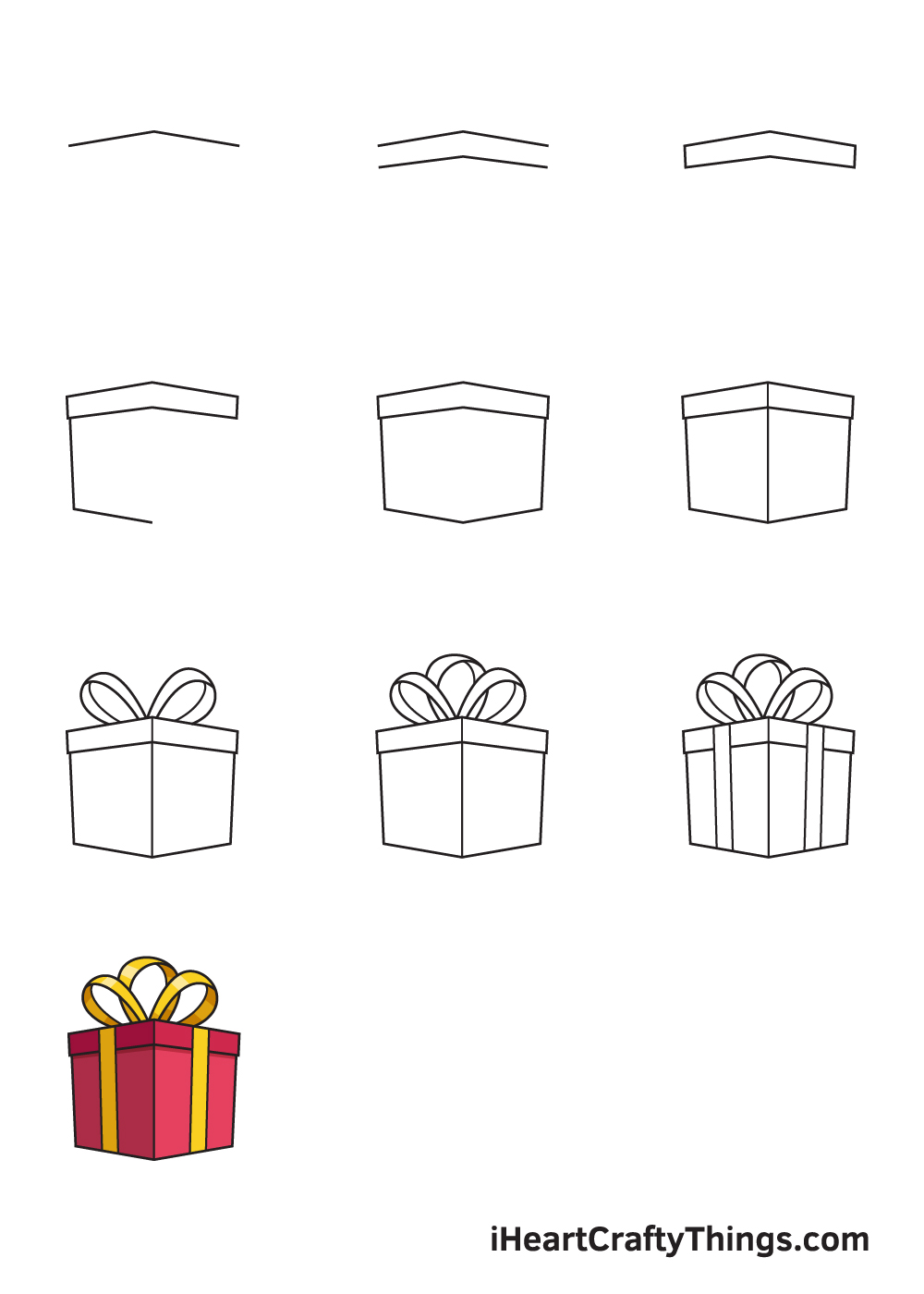 drawing present in 9 steps