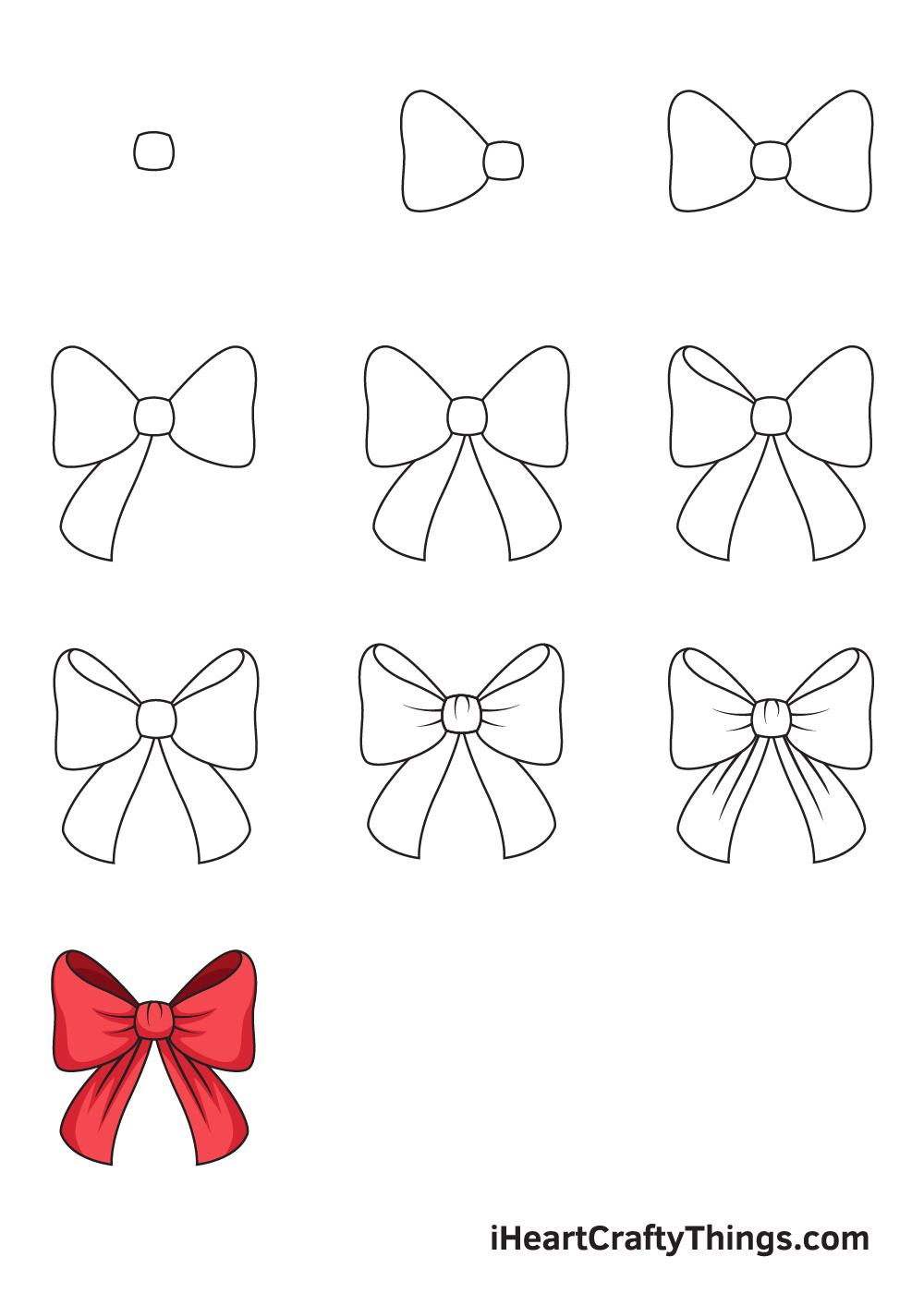 drawing ribbon in 9 steps