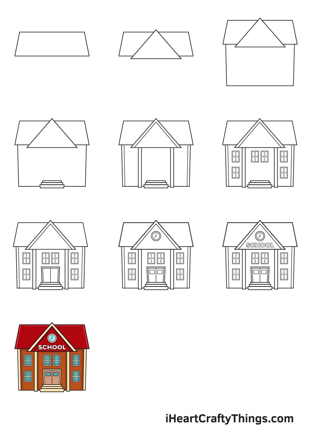 drawing school in 9 steps