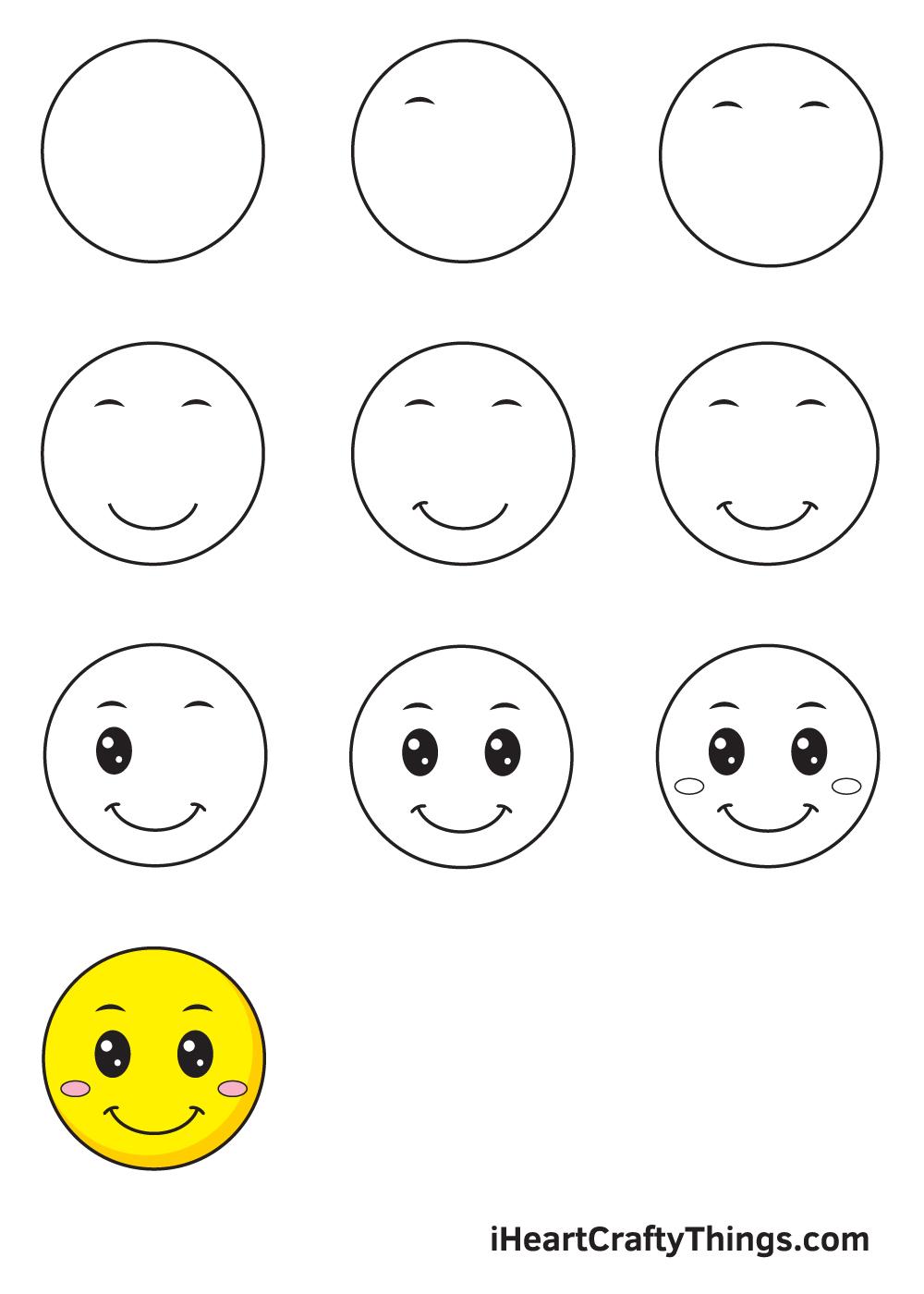 drawing smile in 9 easy steps