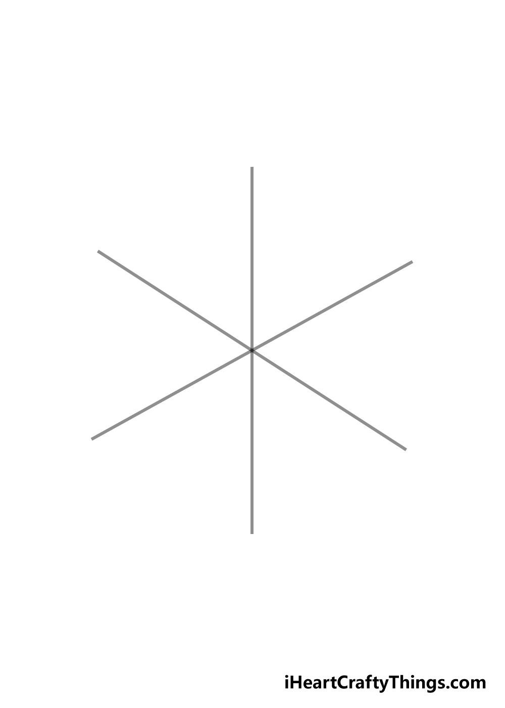 snowflake drawing step 1