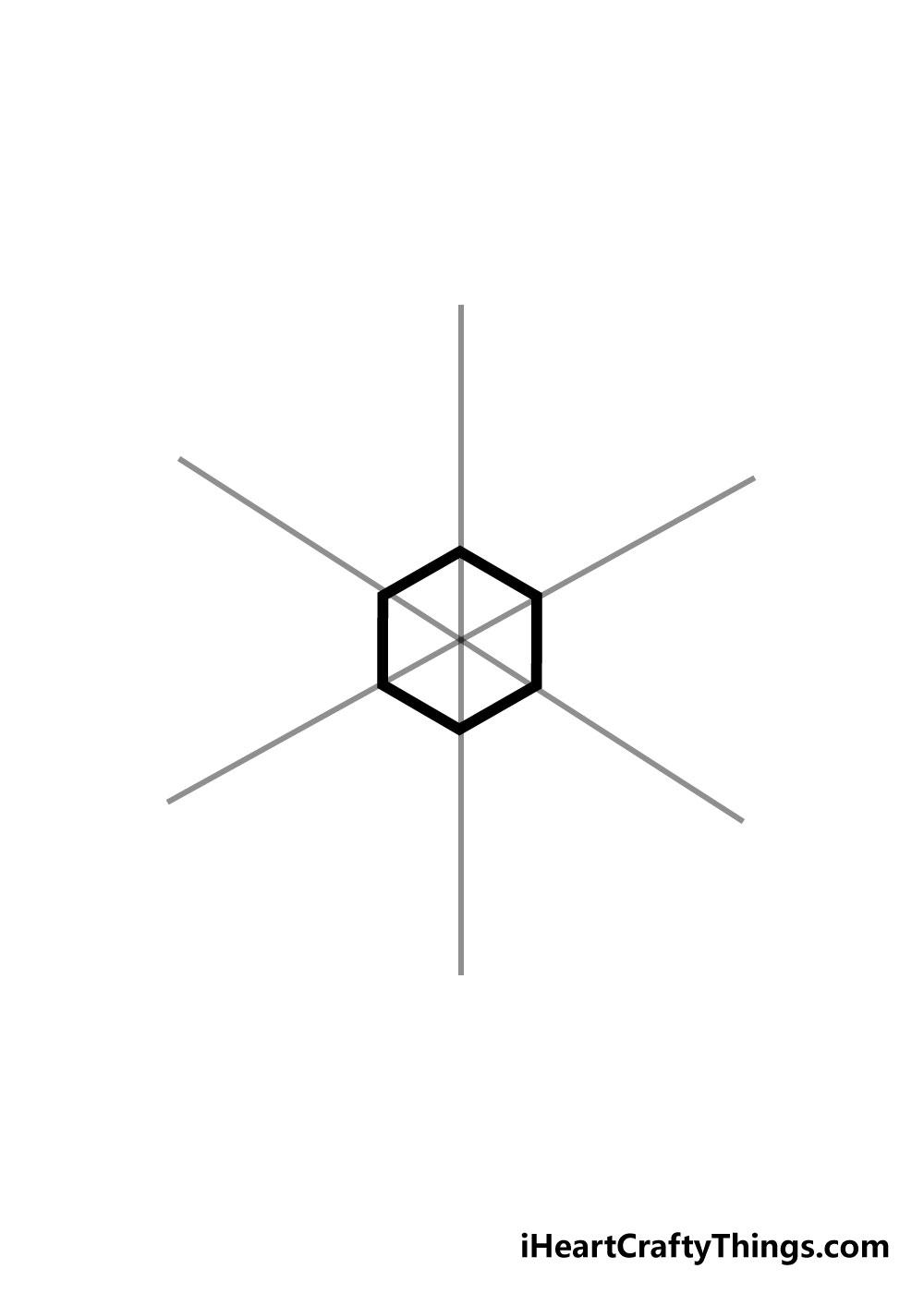snowflake drawing step 2