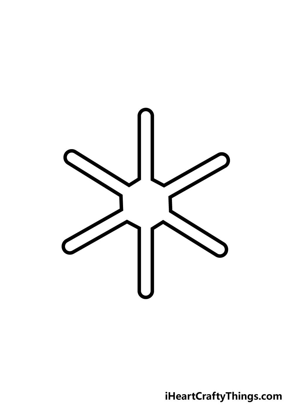 snowflake drawing step 3