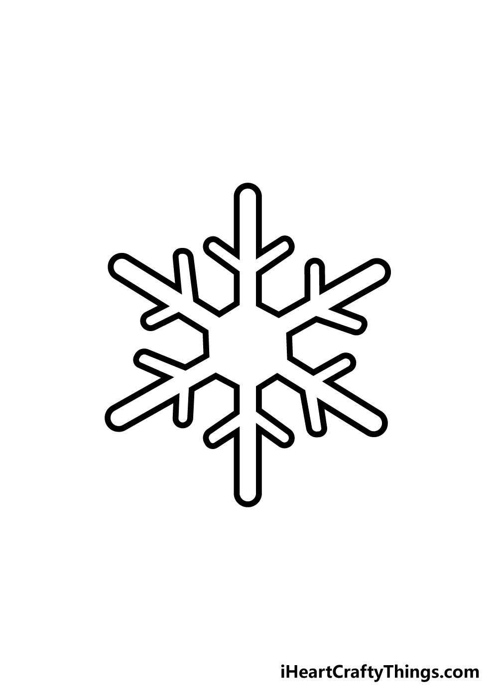 snowflake drawing step 4