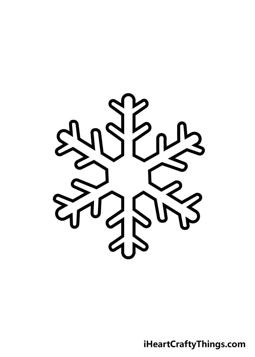 snowflake drawing step 5