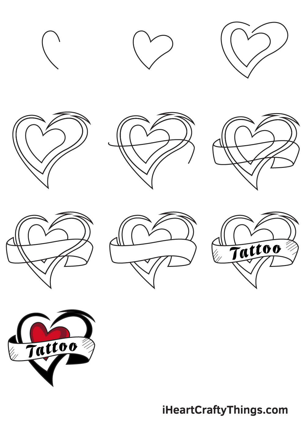 drawing tattoo in 9 steps