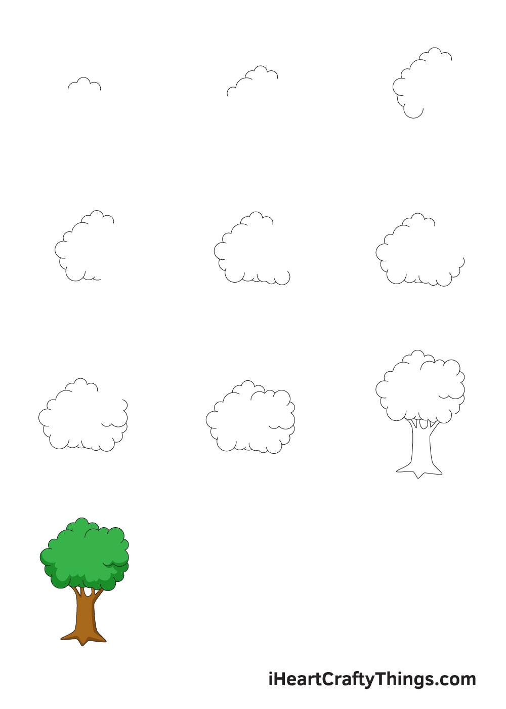 drawing tree in 9 steps