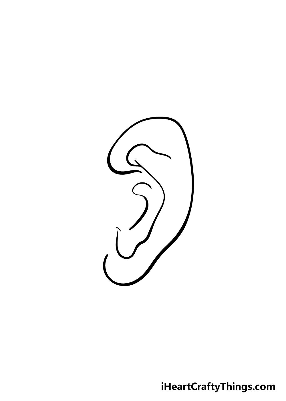 ear drawing step 5