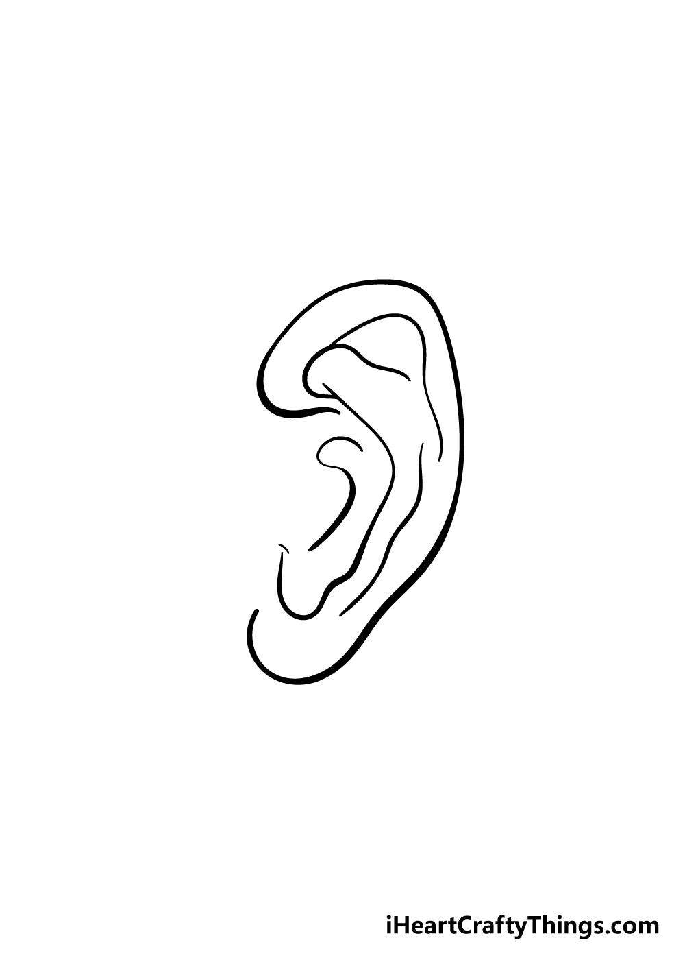 ear drawing step 6