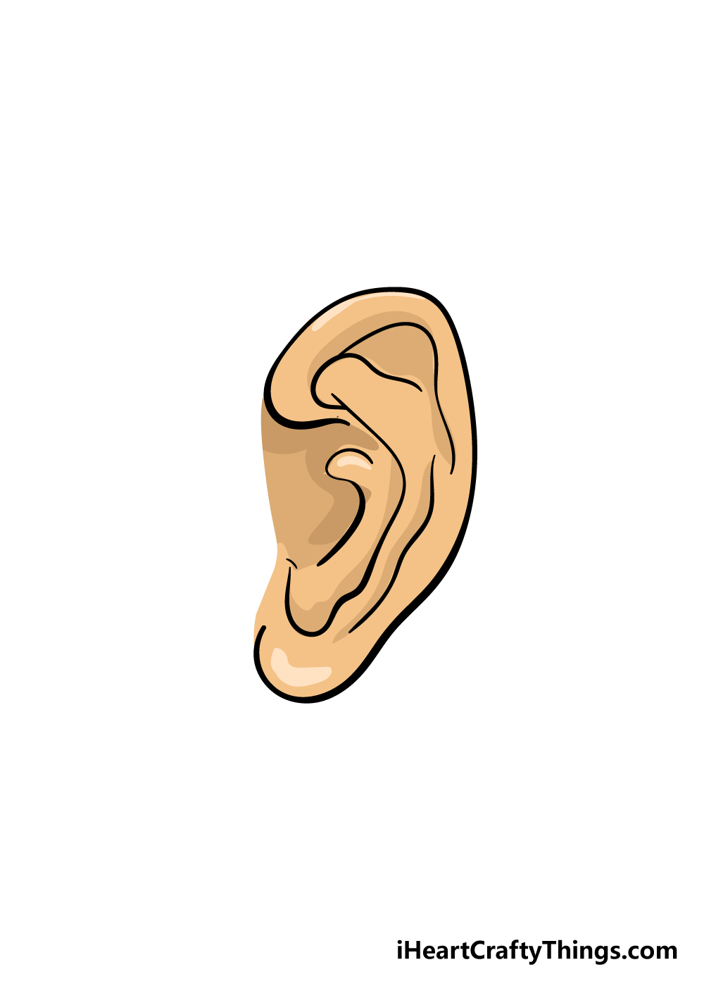 ear drawing step 7