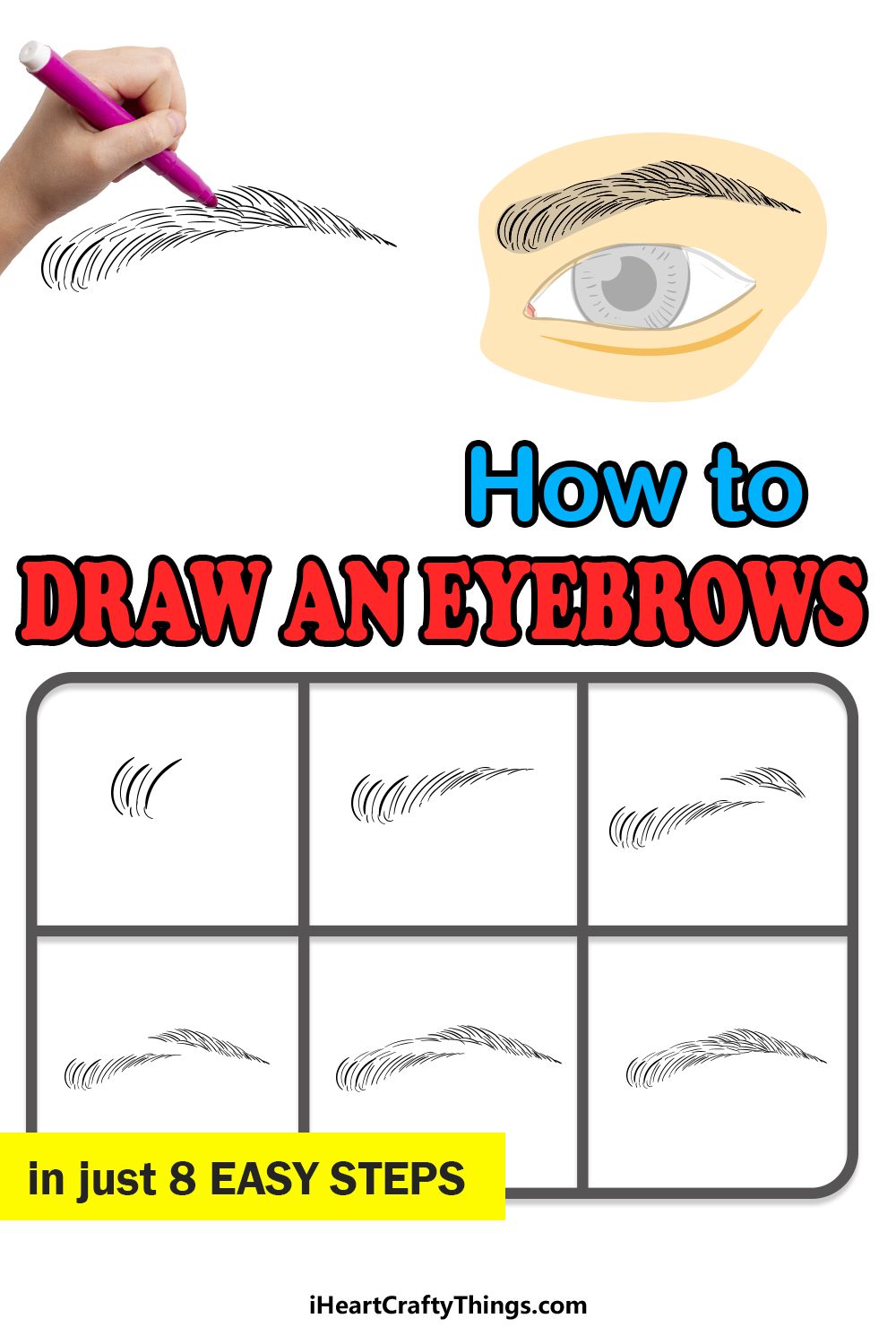 how to draw eyebrows in 8 easy steps