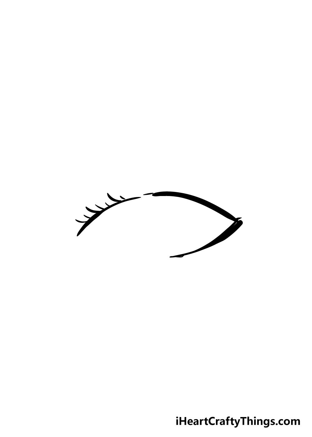 eyelashes drawing step 3