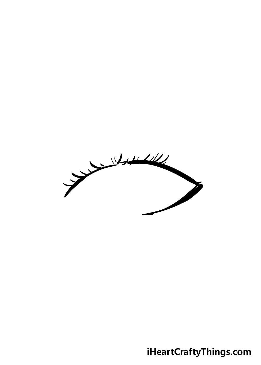 eyelashes drawing step 4