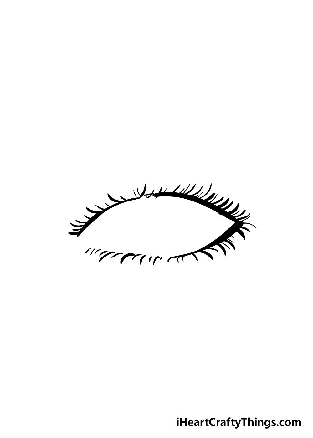 eyelashes drawing step 7