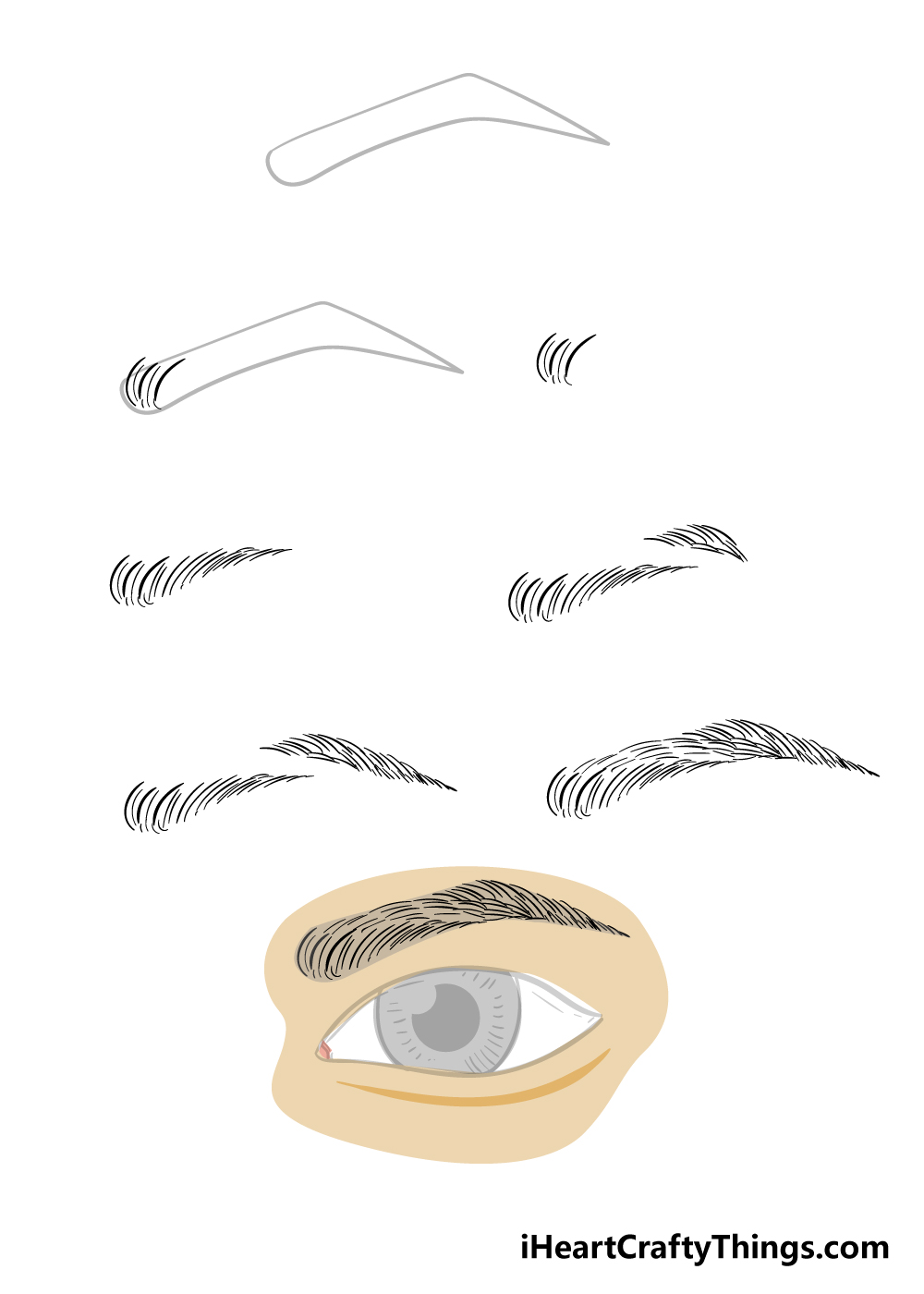 how to draw eyebrows in 8 steps