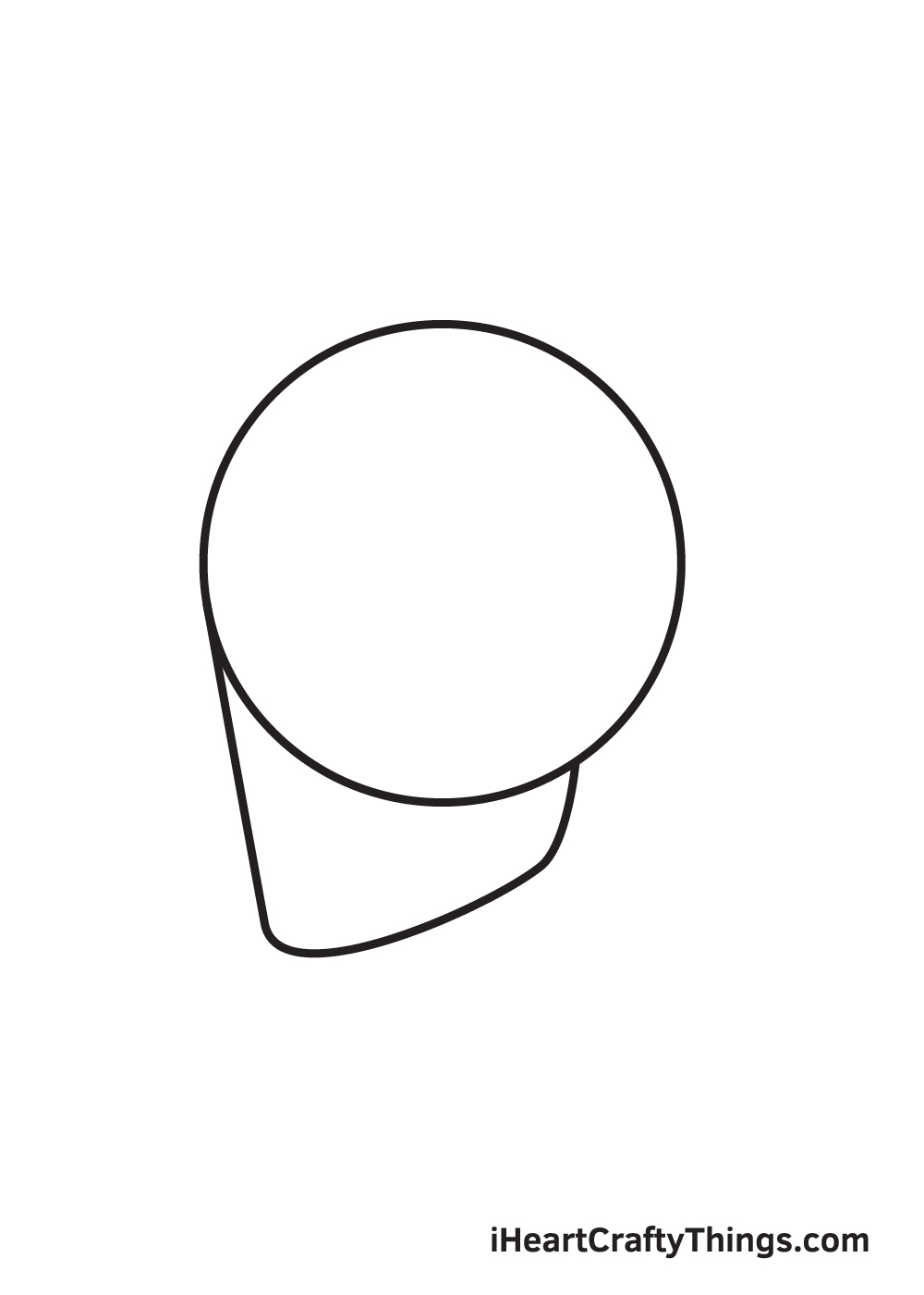 face from the side drawing step 2