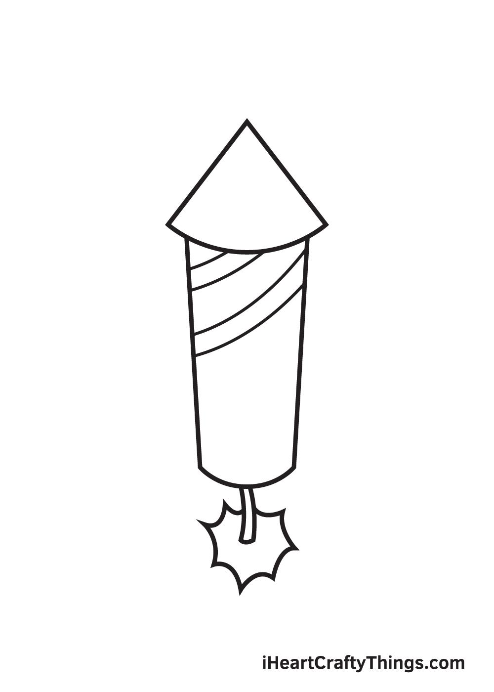fireworks drawing step 6