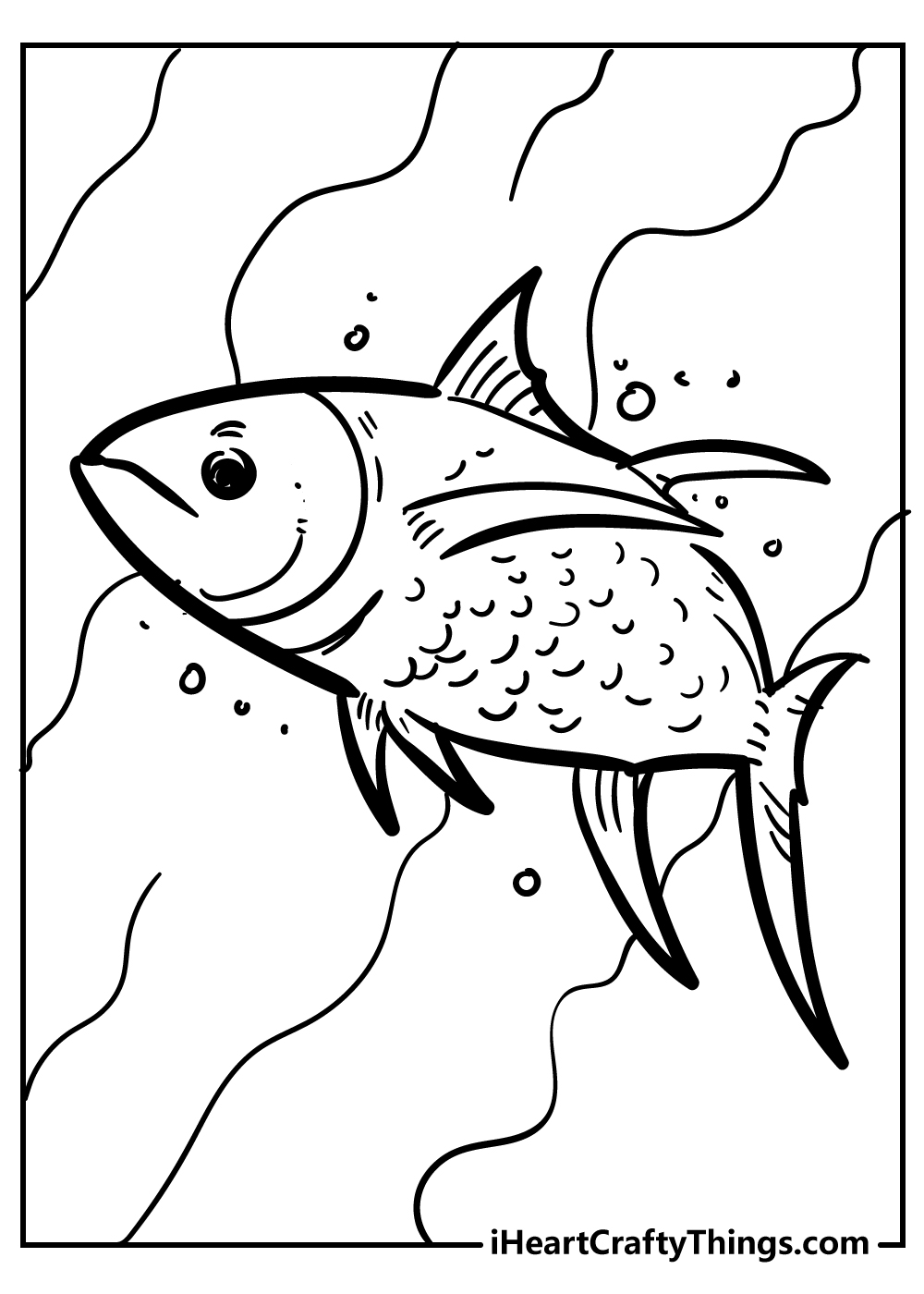 ocean fish coloring pages free download