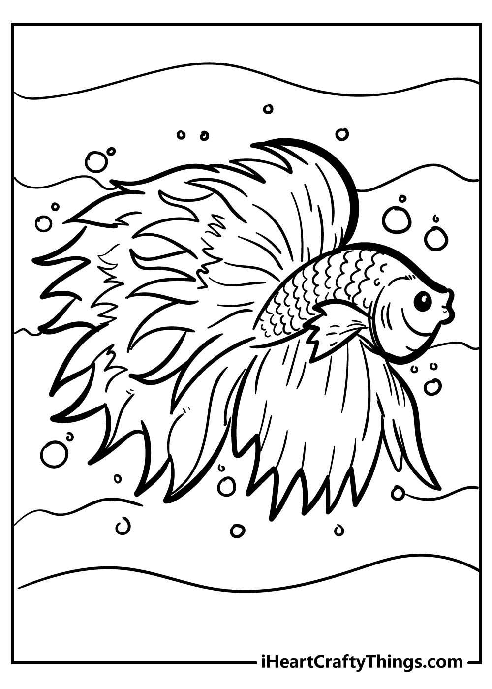 Betta fish coloring pages for preschoolers free printable