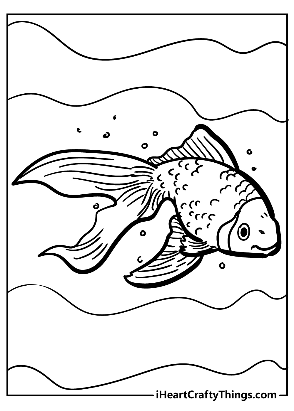 cartoon fish coloring pages free pdf download