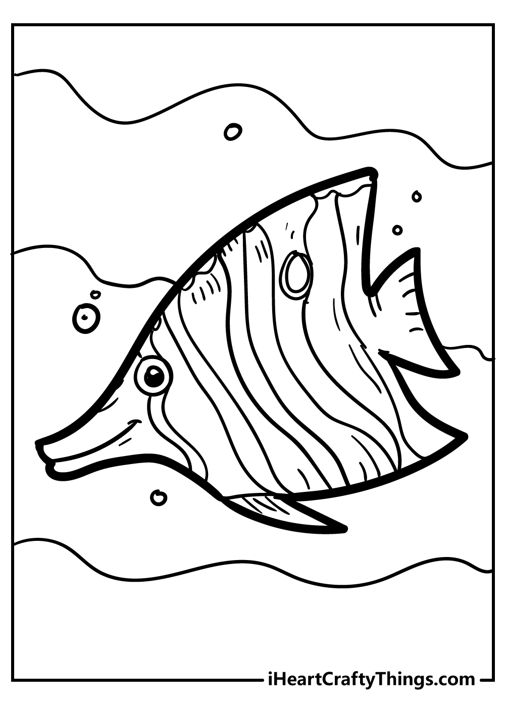 tropical butterfly fish coloring pages