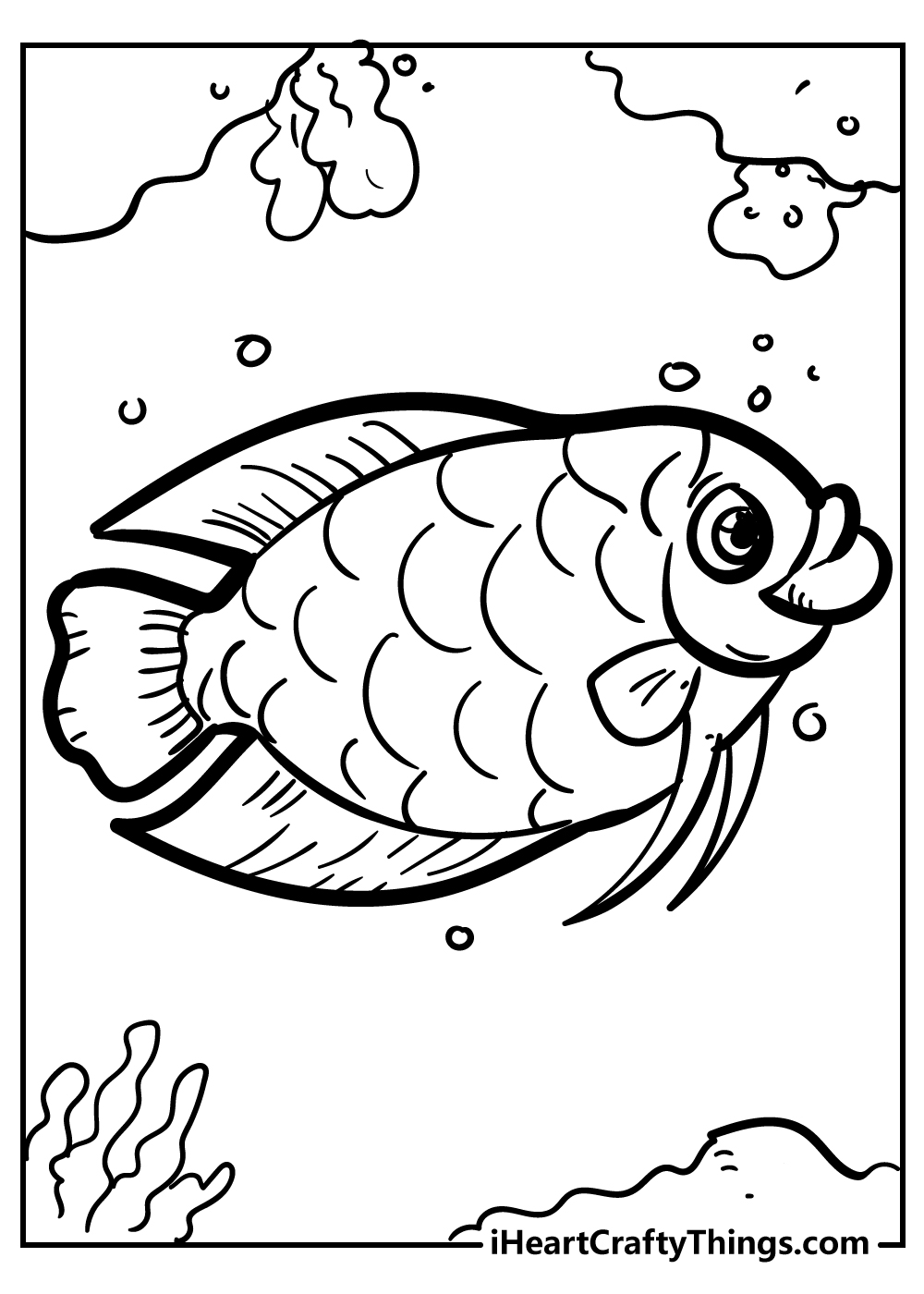 coral reef fish coloring pages for kids