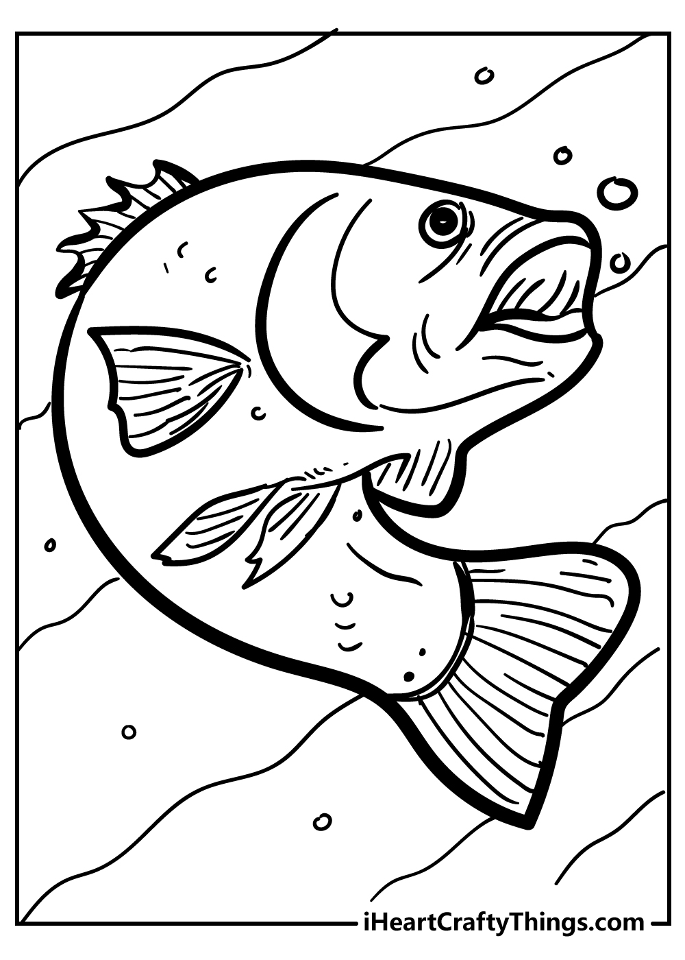 easy fish coloring pages free download