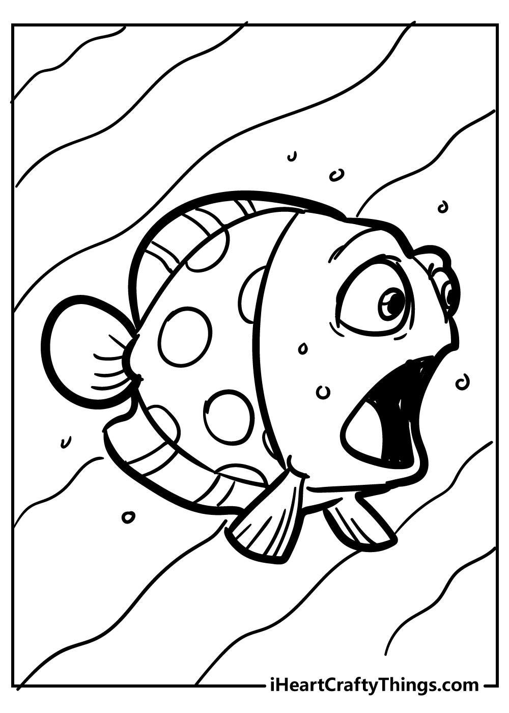 cartoon fish coloring pages free pdf