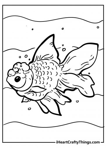 fish coloring images free printable