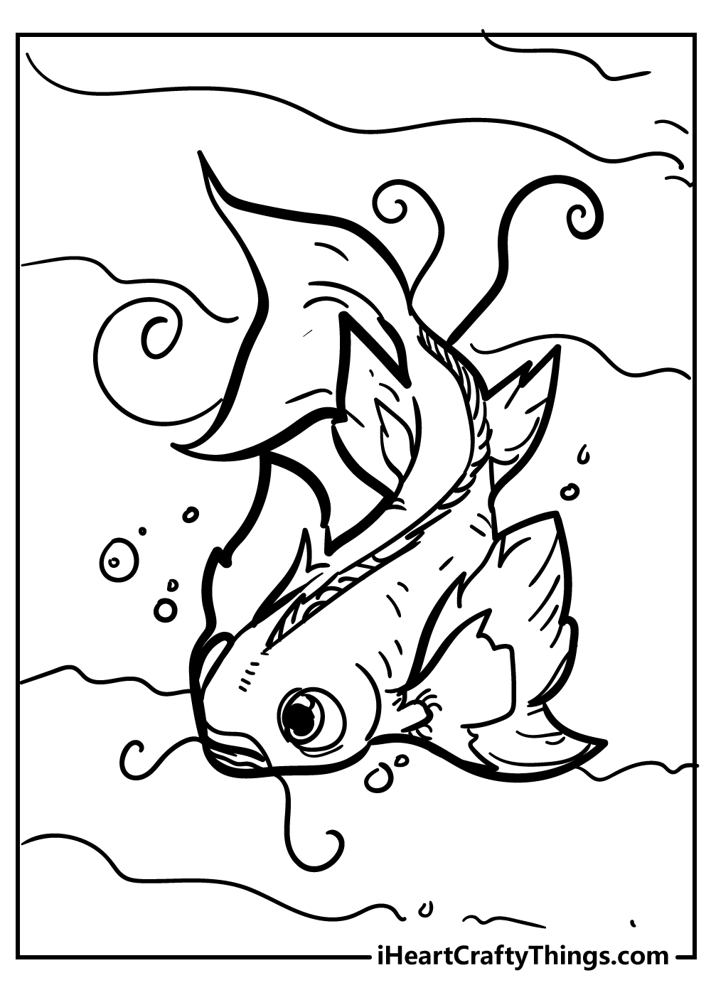 fish coloring pages pdf free