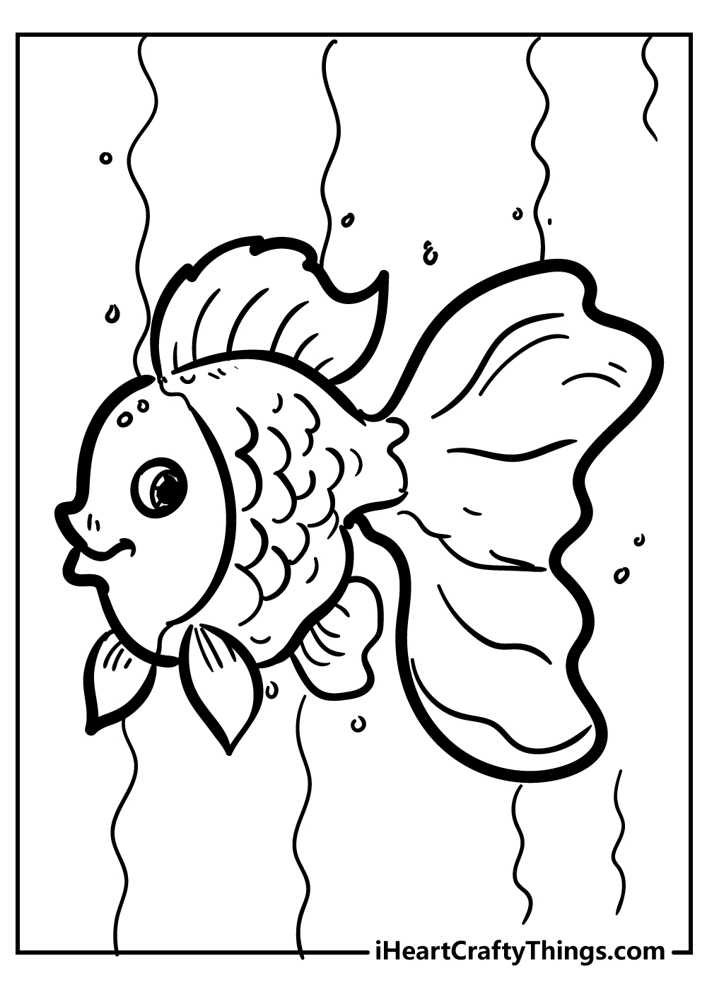 goldfish coloring pages free printable