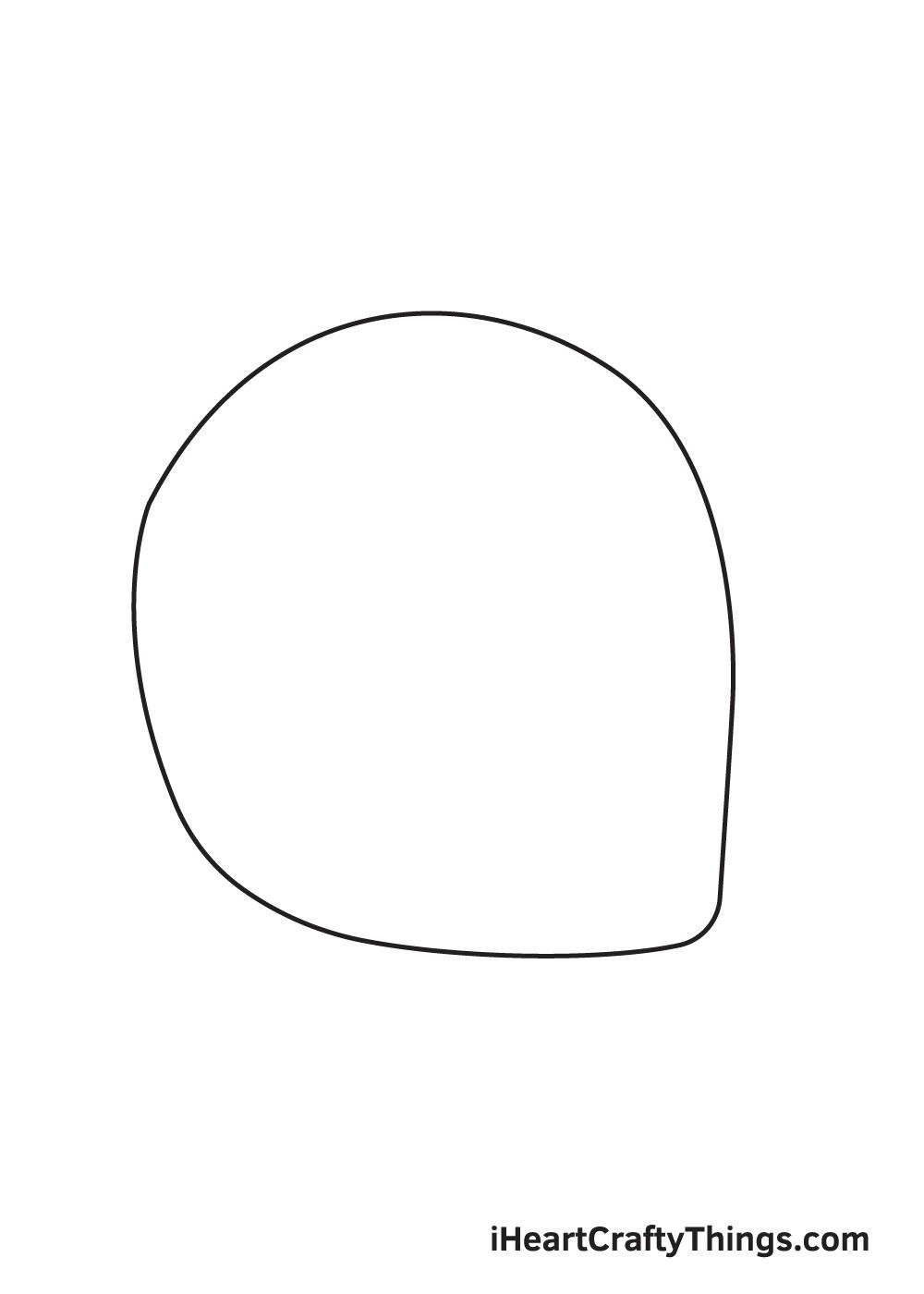 football helmet drawing step 1