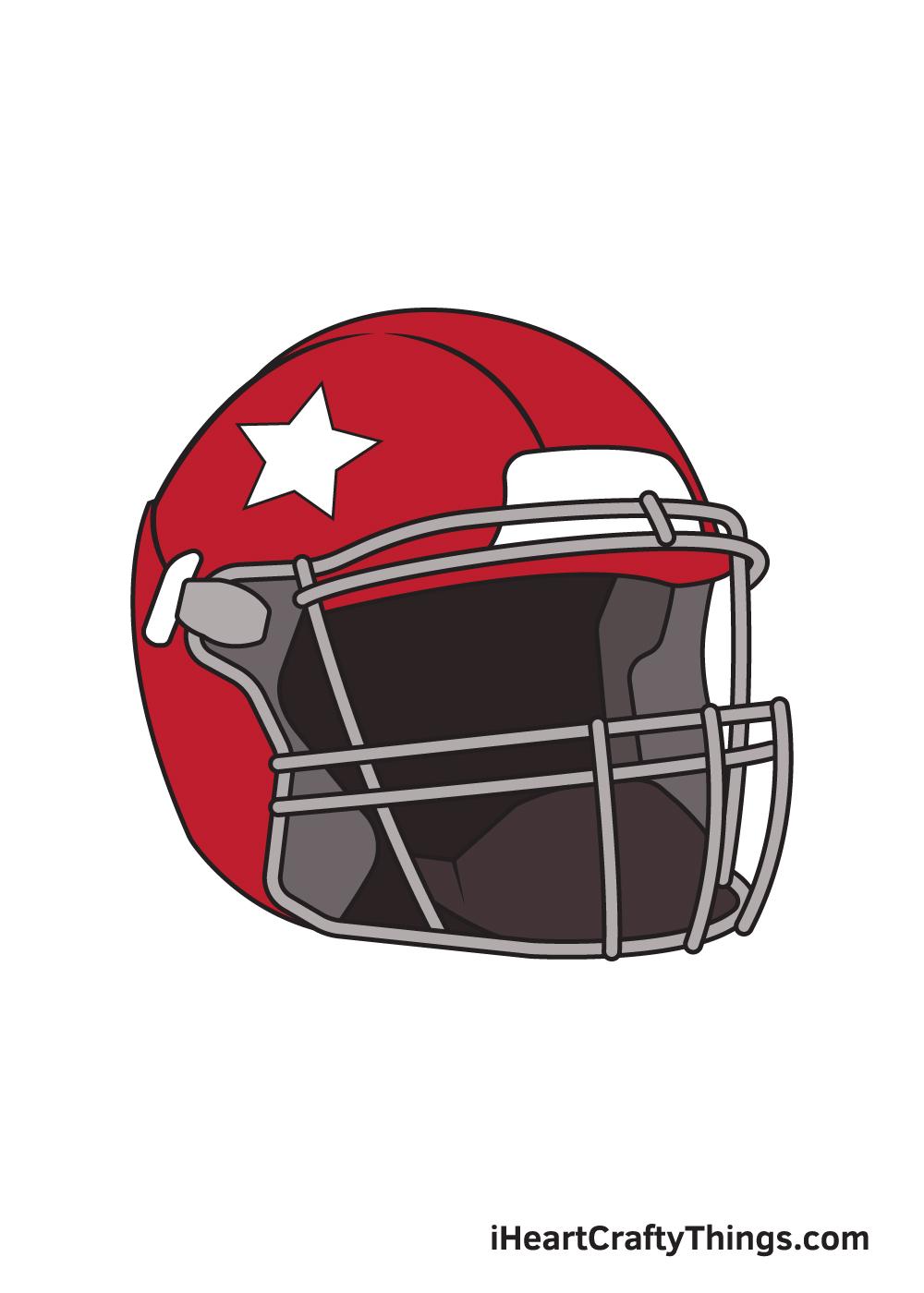 football helmet drawing 9 steps