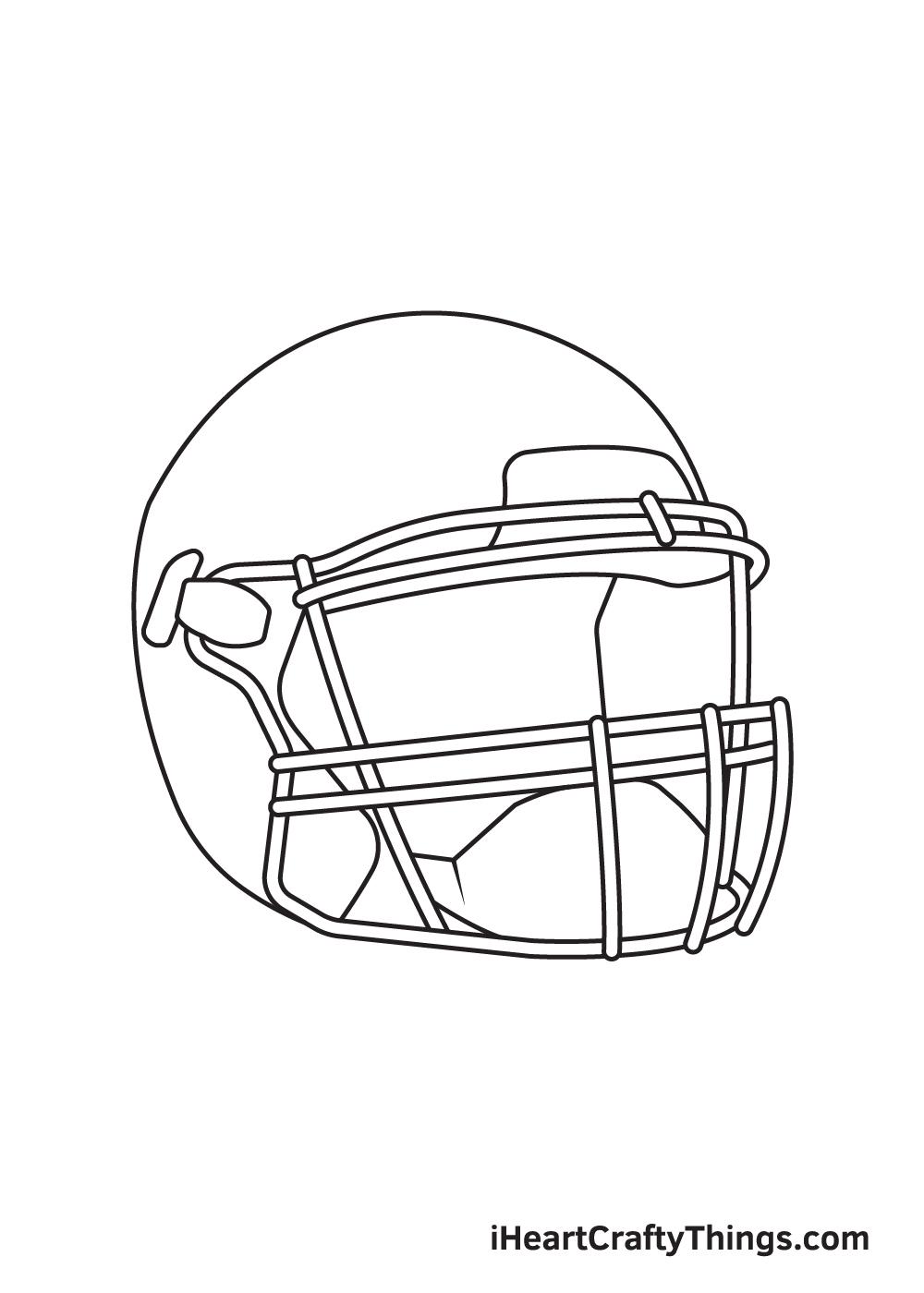 football helmet drawing step 6