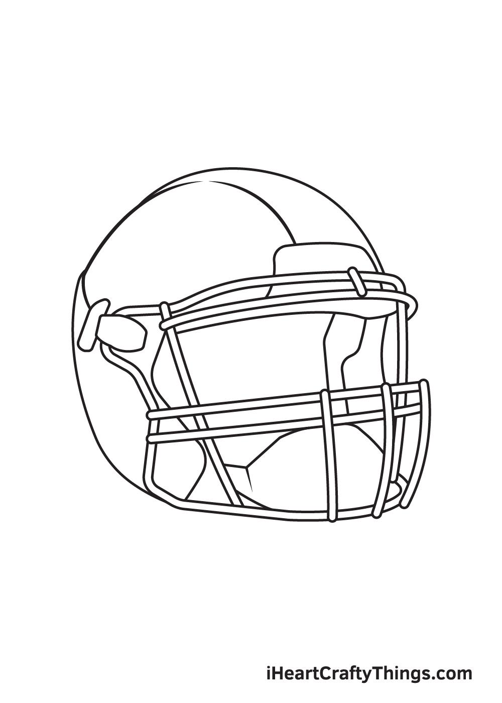 football helmet drawing step 8