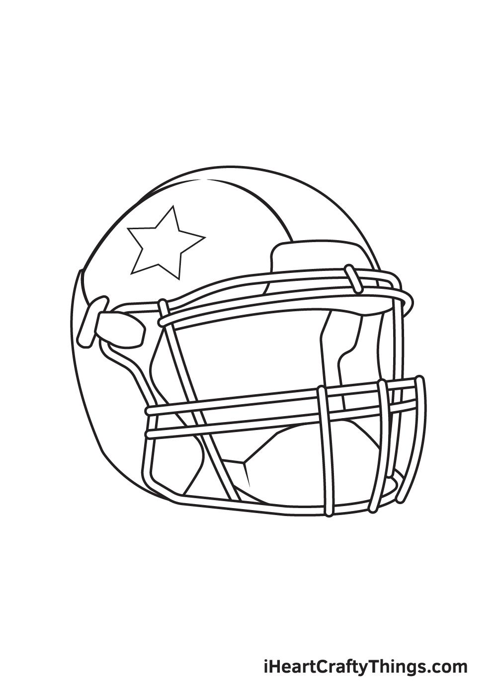 football helmet drawing step 9
