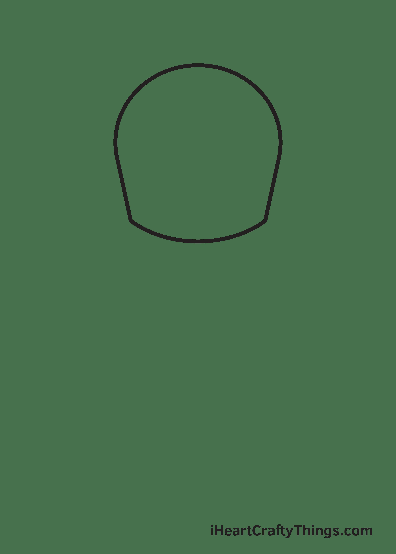 football player drawing step 1