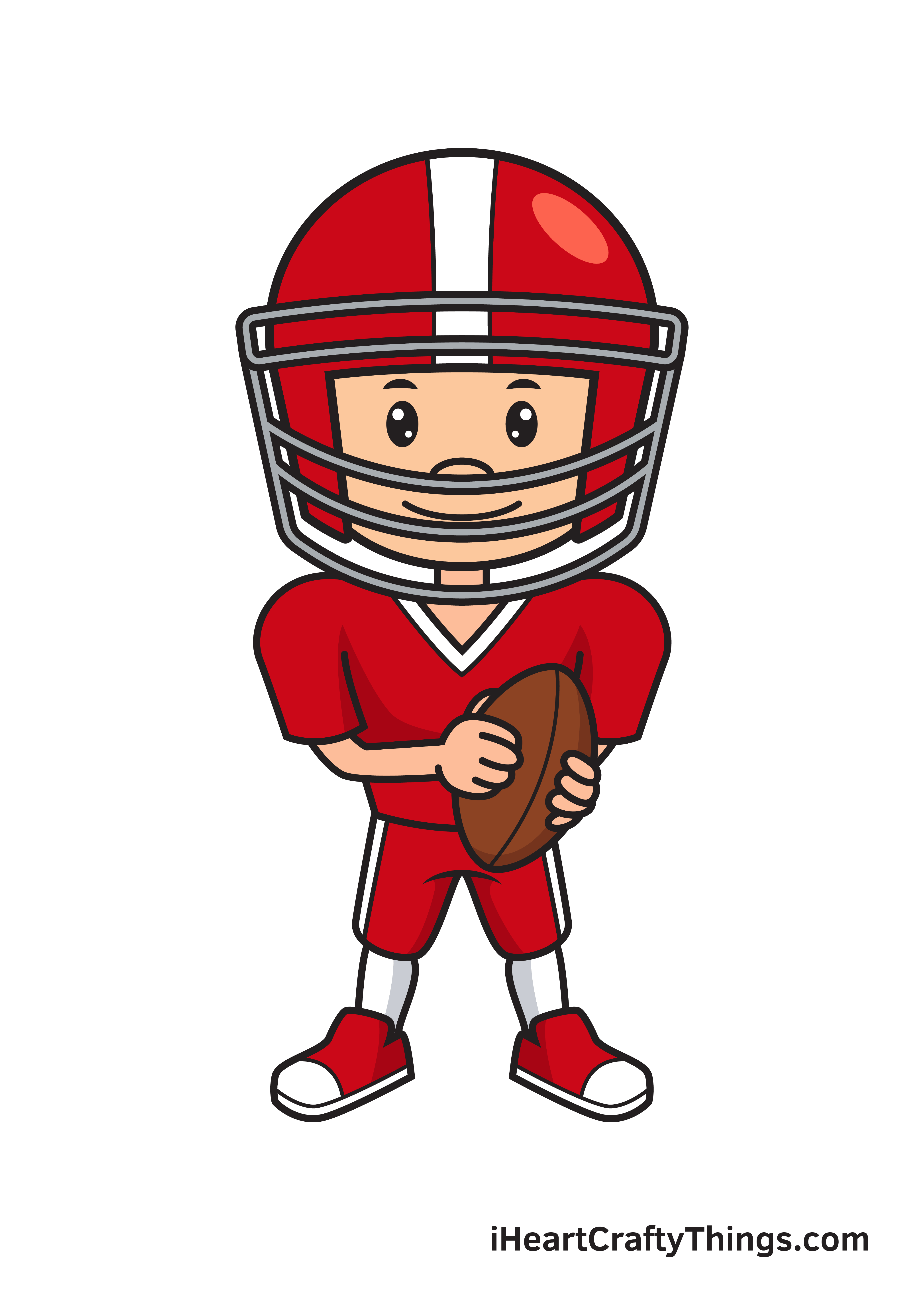 football player drawing 9 steps