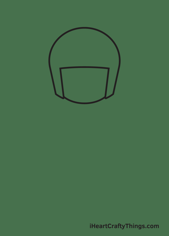 football player drawing step 2