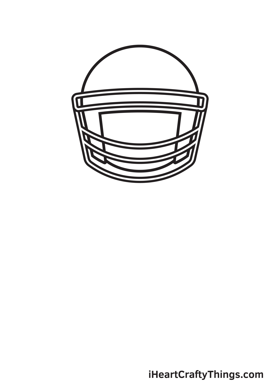 football player drawing step 3