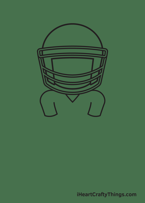football player drawing step 4