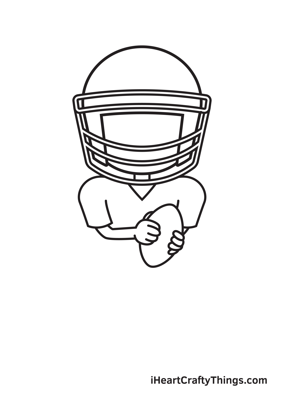 football player drawing step 5