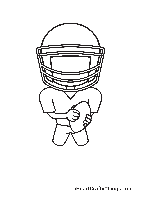 football player drawing step 6