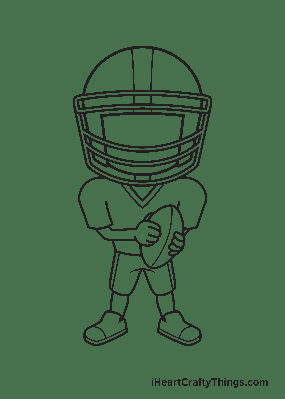 football player drawing step 8