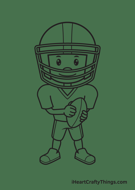 football player drawing step 9