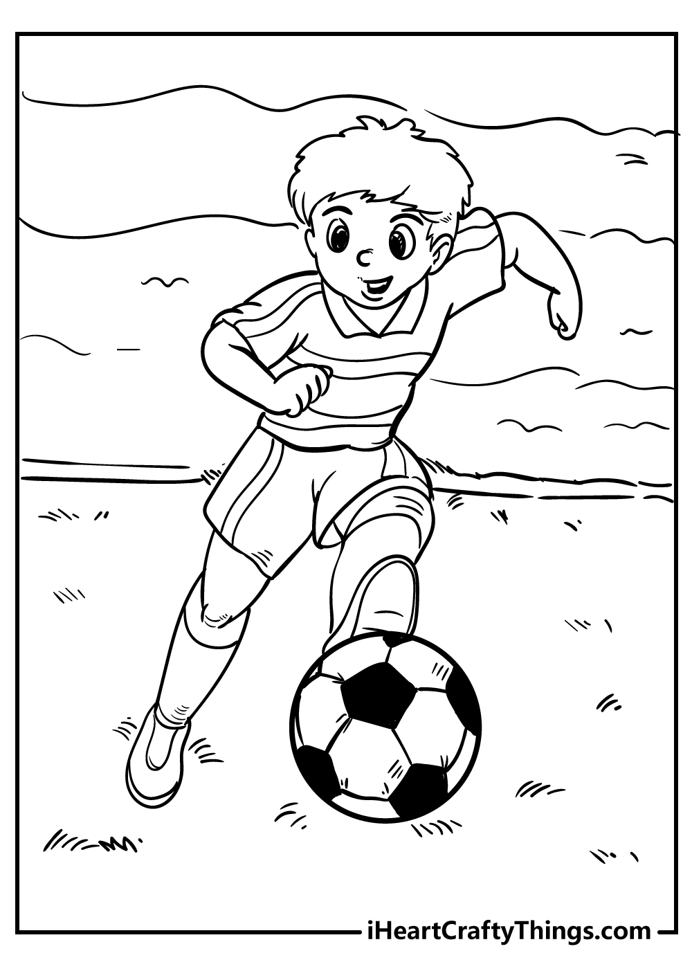 football for boys coloring pages to print