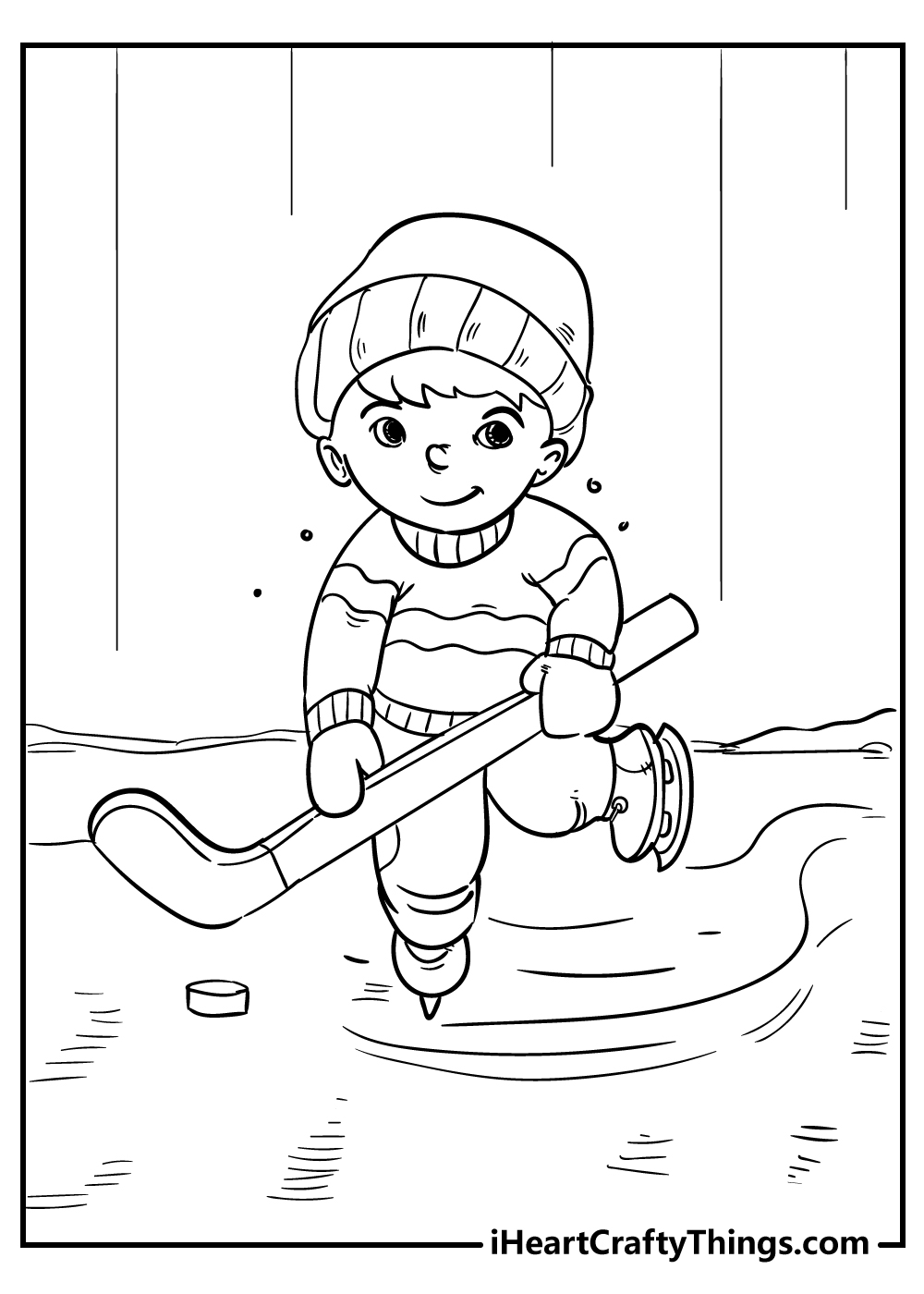 ice skating coloring pages for boys free download