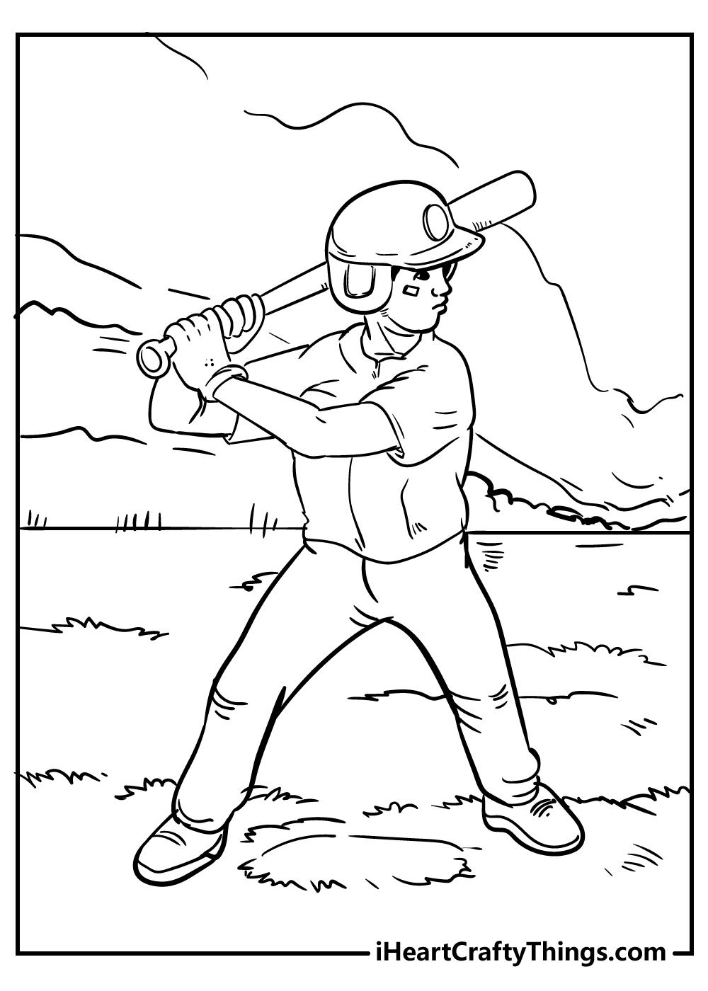 baseball coloring pages for boys free printable