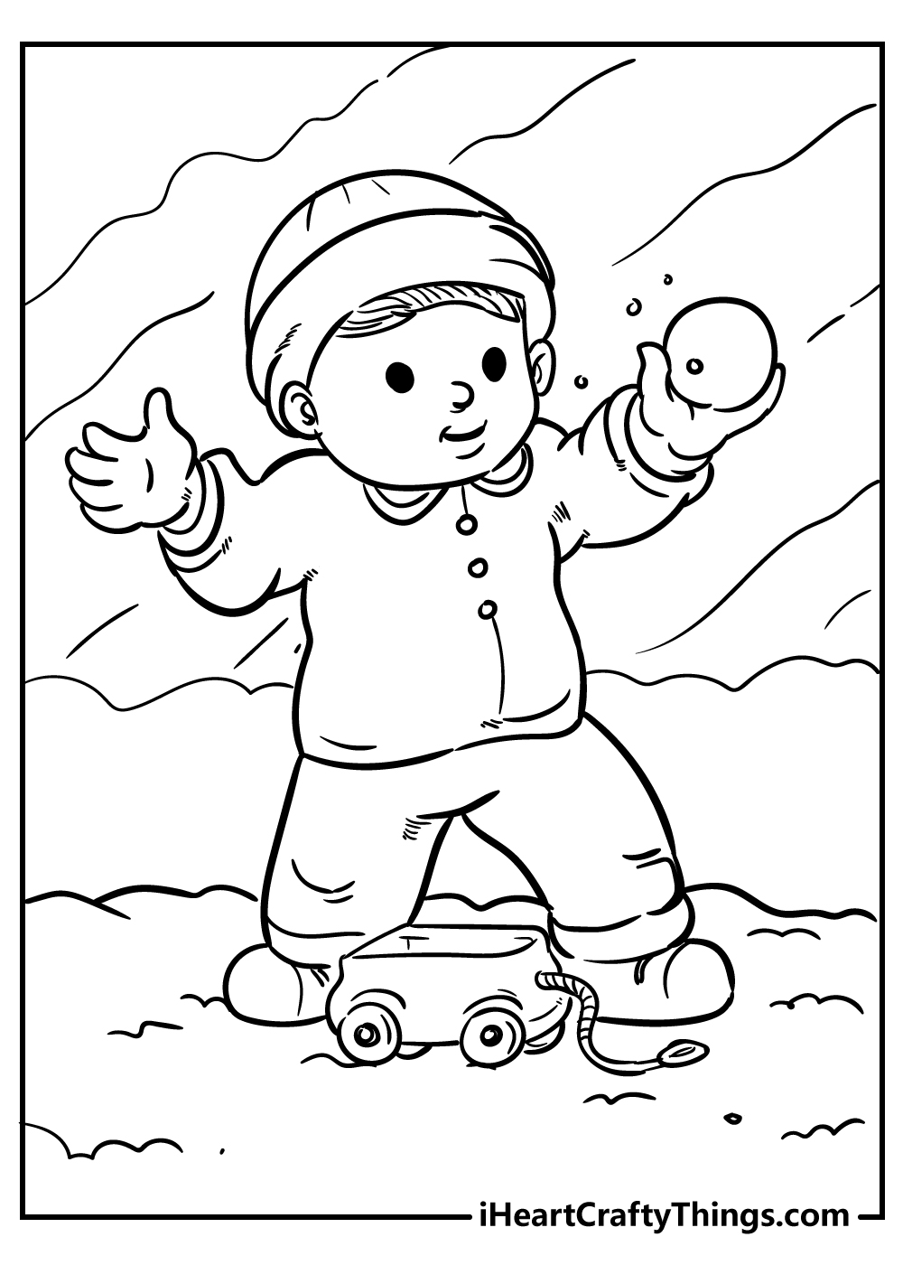 snow coloring pages for boys free download