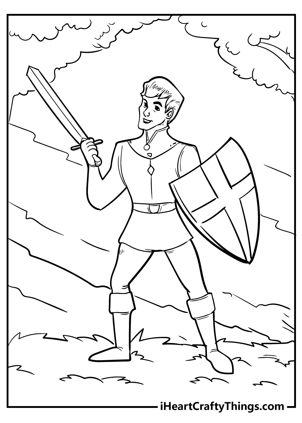 knight coloring pages for boys free download